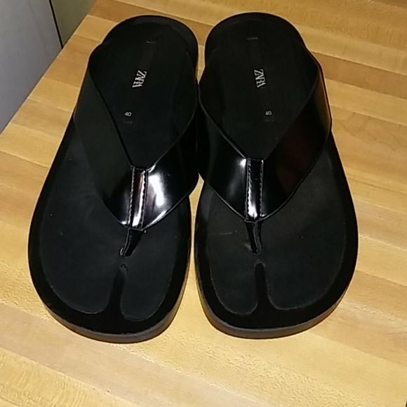 Zara Minimal Thong Sandals